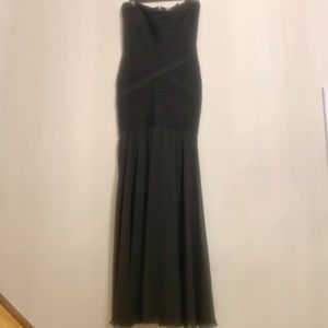 JS Collections Size 8 Black Gown